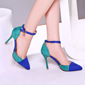 Red bottom High Heels Women Pumps fashion High Heel Shoes Woman Sexy Wedding Party Shoes black red Blue