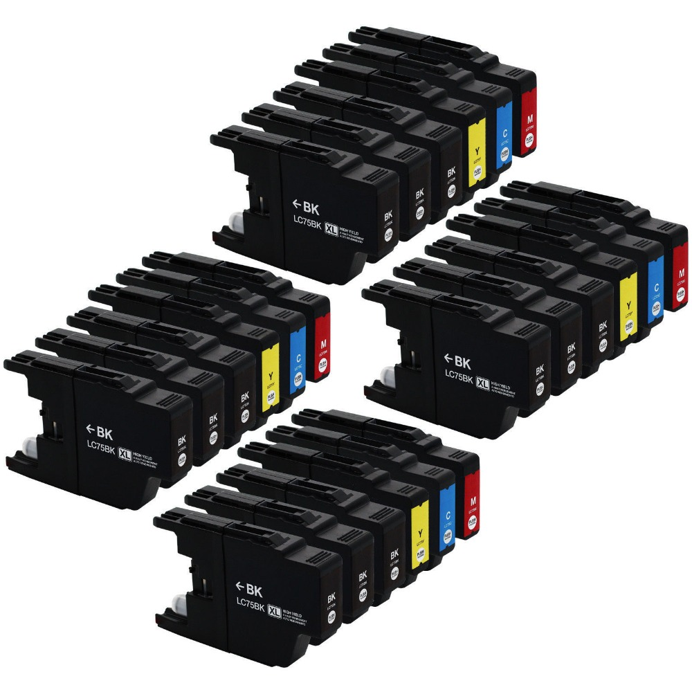 Free shipping 2015 New [Hisaint] 24 PK LC-75 XL Ink Cartridges for Brother MFC-J430w MFC-J825DW MFC-J835W Printer free shipping cis scanner for brother mfc 210c printer parts