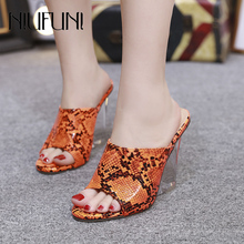 Women's Sandals Crystal Wedge Snake Women's Slippers 2019 New Super High Heels Wedges Shoes For Women Color Wear Ladies Shoes все цены