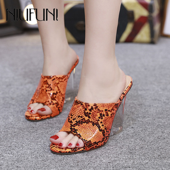 Women's Sandals Crystal Wedge Snake Women's Slippers 2020 New Super High Heels Wedges Shoes For Women Color Wear Ladies Shoes