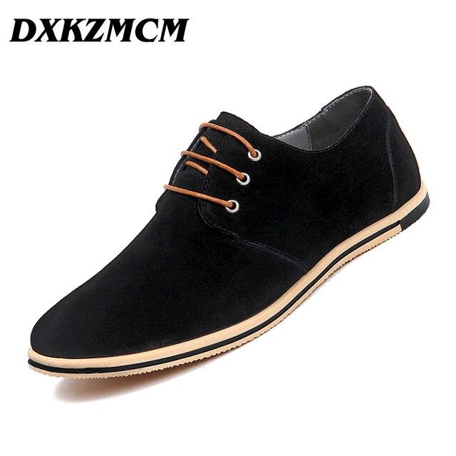 Dxkzmcm Мужские кожаные туфли бренд ручной работы Повседневная Удобная хлопковая куртка Представительская обувь Для мужчин Туфли без каблуков