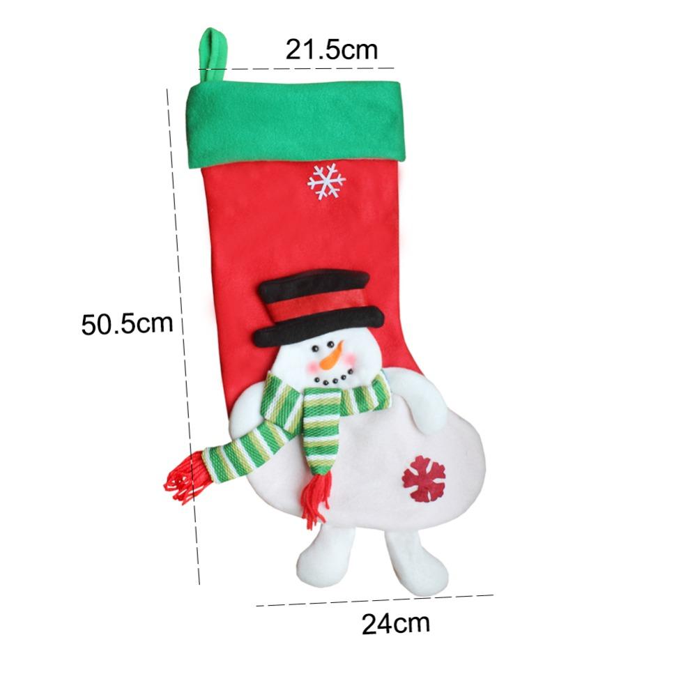 3D Reindeer Father Christmas Snowman Christmas Stocking Gift Santa ...