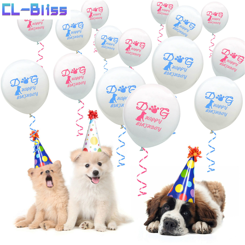 WOOF Pet Happy Birthday Party Decoration Dog Birthday Cheap Latex Balloons Puppy Birthday Party Favors Baloons Balon Dog Toys,B 600rr anahtarlık