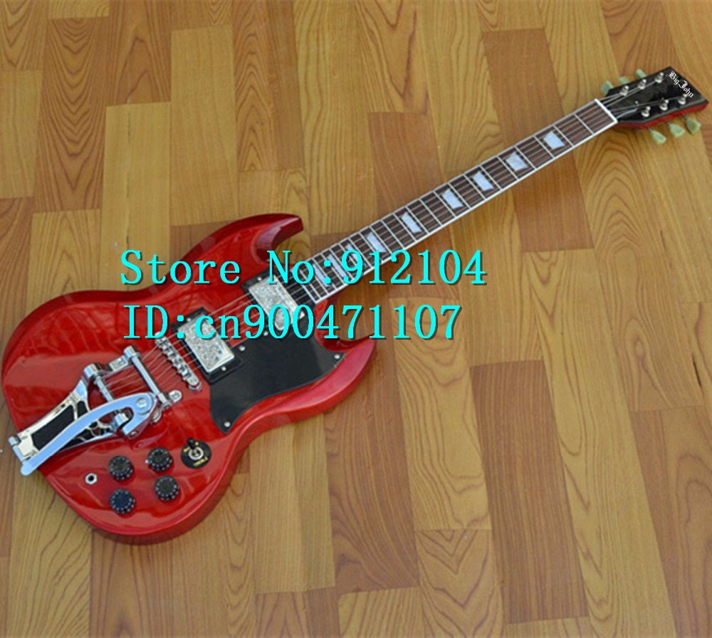 new Big John LP electric guitar in red with mahogany body and big rocker SG guitar+EMS free shipping F-1113 биотуалет thetford porta potti qube 365 белый