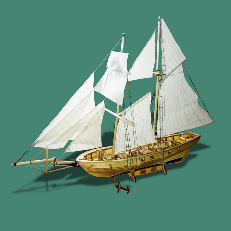 Us 1466 45 Offclassics Antique Wooden Sailboat Model Kits 1130 Scale Harvey 1847 Diy Wooden Ship Assembling Building Kits Home Decoration In