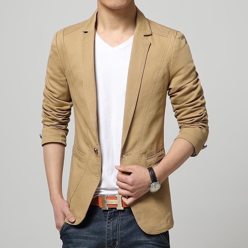 14da7d24b5a Red Khaki Mens Blazer Jacket Men Slim Fit Soild Casual blazer suit for man New  2015 autumn arrival casaco masculino men blazer