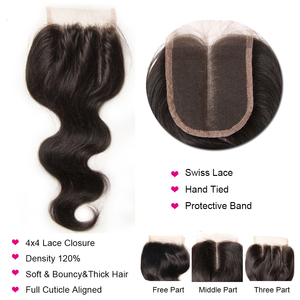 Image 5 - Longqi Hair Body Wave Bundles with Closure Malaysian Hair 3 Bundles with Closure Remy Human Hair Closure with Bundles