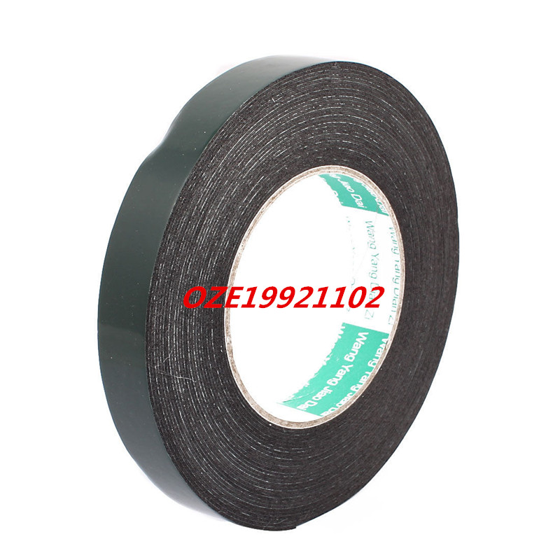 20mm x 1mm Self Adhesive Shock Resistant Anti-noise Foam Tape 10M Length 10m super strong waterproof self adhesive double sided foam tape for car trim scotch