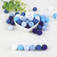 Joepada 100pcs 15mm Silicone Beads Baby Teething Chewable Teether Pacifier Clips Food Grade BPA Free Toy