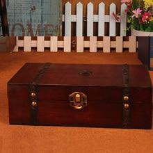 Винтаж деревянный ящик zakka античный маленький шарик хранения коробки конфет окно прямоугольник Шкатулка Главная рабочего украшения хранения