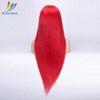 Красный Полное Кружева натуральные волосы парики для черный Для женщин перуанский Virign волос Full Lace натуральные волосы парики с ребенком вол