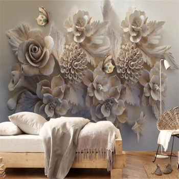 beibehang  Custom Mural Wallpaper Beautiful Embossed 3D Floral Butterfly Bedroom TV Background Wall Paper 3d stereoscopic wallpa girls bedroom embossed wallpaper pink background wall 3d wallpaper pvc roll classic flower wall paper peony floral wall covering