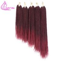 14 16 18 20 22Inch 30Roots Samll Crochet Braids Havana Mamabo Twist Braiding Hair Extensions Ombre Burgundy Kanekalon Braid