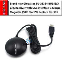 2PCS/LOT Globalsat BU353S4 BU-353S4 Waterproof Cable USB GPS Receiver with USB interface G Mouse Magnetic (SiRF Star IV)