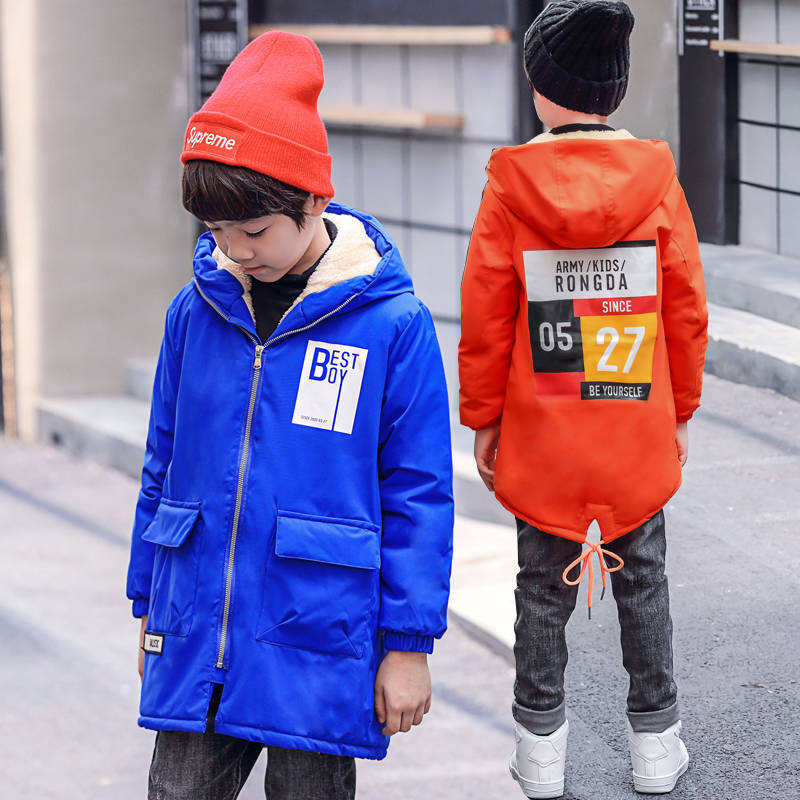 Children's clothing boy windbreaker jacket 2018 new children's long coat spring and autumn boy windbreaker Korean version цена