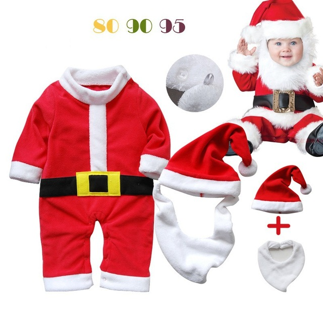 ed7b8701d8 3 Unids set BoyJumpsuits y Mamelucos Del Bebé Fija Traje de la Navidad de  Papá