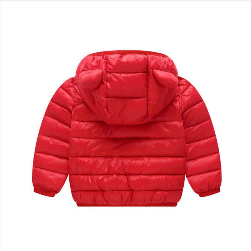 2019 осенне-зимние куртки с капюшоном для маленьких мальчиков и девочек милые детские куртки ярких цветов для маленьких девочек, верхняя одежда, одежда