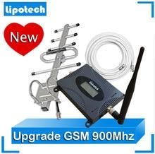 2017 Lintratek Móvil Celular amplificador de Señal GSM 900 MHz Repetidor de Señal de Refuerzo 2G Actualización Con Antena Yagi Exterior Antena de látigo