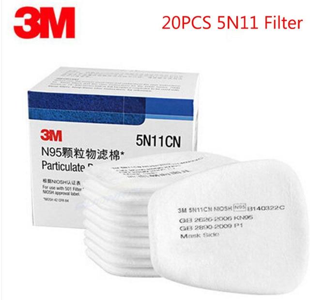 20 Pcs Respirator Verf Spuiten 3M 5N11 Filter Gezicht Gas Mask Vervangen Fitting Voor 3M 6000 7000 Serie stofmasker