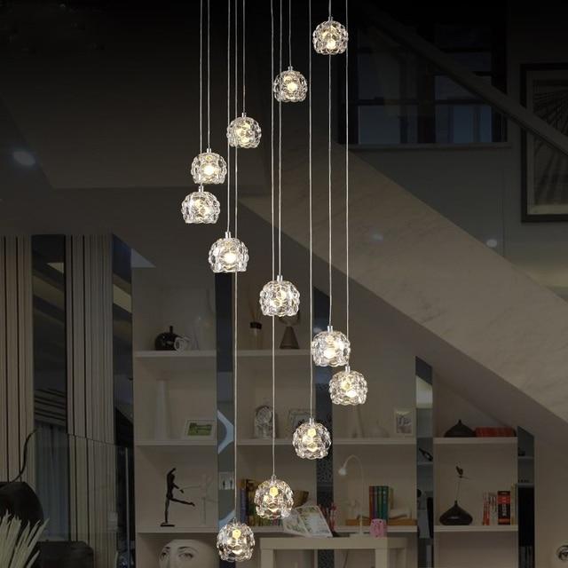 acheter moderne spirale lustre led escalier clairage int rieur escalier. Black Bedroom Furniture Sets. Home Design Ideas