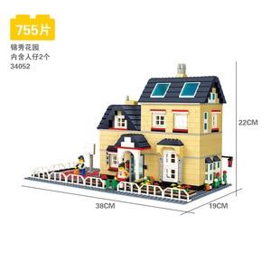 Image 2 - 816 個 wange 34053 超大型ヴィラビルディングブロック eductional おもちゃ構造互換レンガとブロックハウスギフト