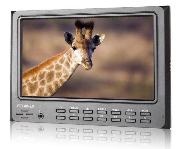 """Бесплатная Доставка! Feelworld FW7D/O 7 """"IPS Камеры Верхнее Поле Видео ЖК-Монитор Пиковый HDMI В & Out"""