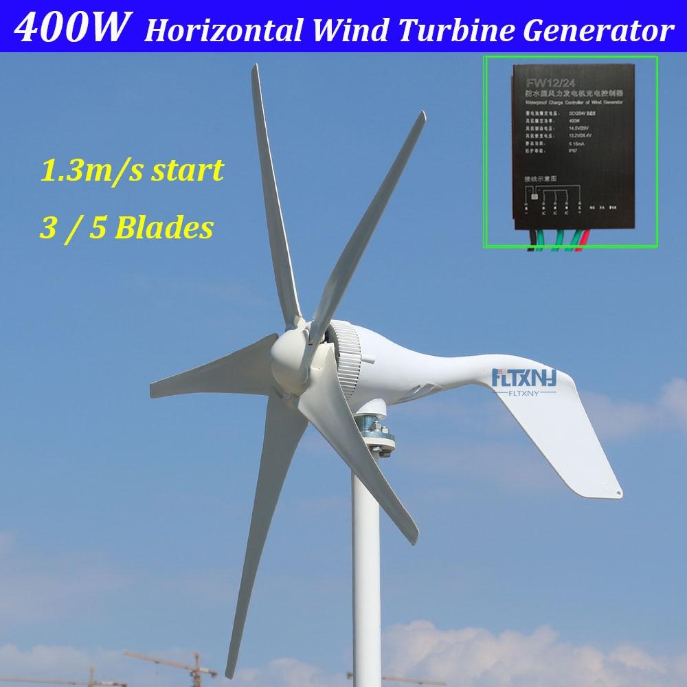 5 blades 3 blades 3 phase AC 12v 24v horizontal wind turbine generator with 12V 24V Auto regulator wind controller прибор для авто oem 3 in1 12v 24v 68050