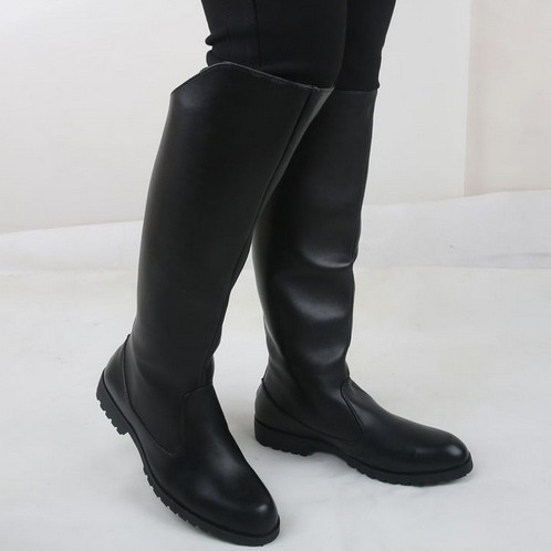 Aliexpress.com : Buy Male fashion parade boots zipper califs tall ...