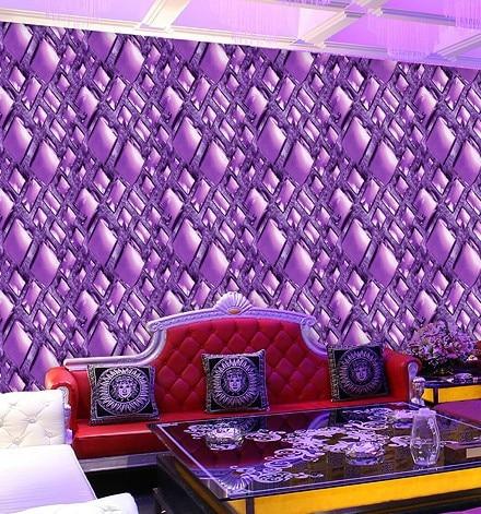 3D Vision Modern Brief Rhombus Diamond Abstract Wallpaper Purple Stereo ktv Wall paper Background 3d wall murals wallpaper home improvement 3d wallpaper for walls 3d decorative vinyl wall paper abstract space background wall wallpaper