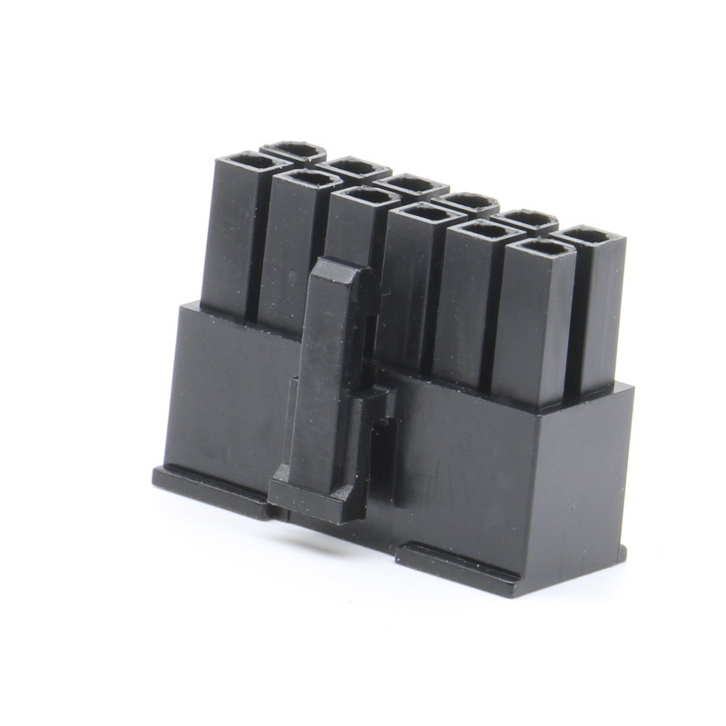 12pin Molex 5557 connector connector male plug 4.2 pitch computer ATX car line plastic shell