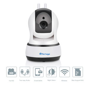 Image 3 - Techage 720P caméra IP sans fil sécurité à domicile CCTV Surveillance vidéo Wifi PT caméra bébé moniteur Vision nocturne Audio bidirectionnel P2P