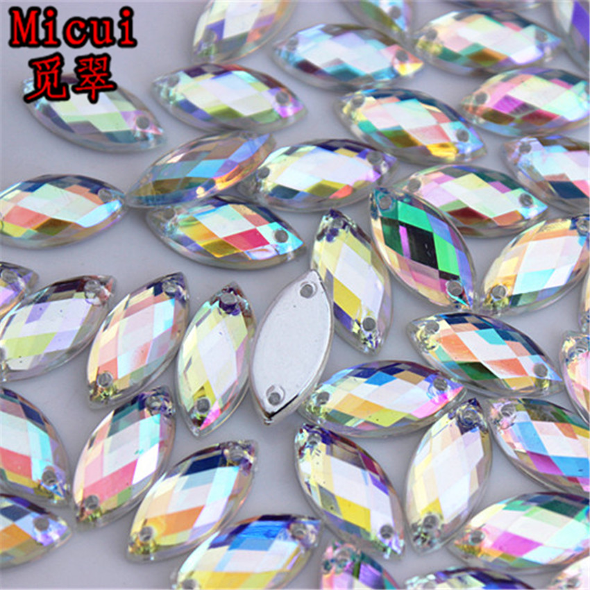 100pcs Clear Crystal Rhinestone Beads Square Flat for Sewing Craft DIY