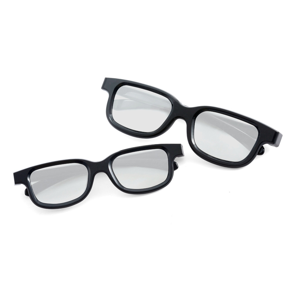 2pcs Plastic 3D Cinema Glasses For Passive Real D 3D TVs