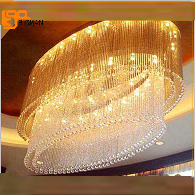 New oval design large modern crystal chandelier foyer chandeliers new oval design large modern crystal chandelier foyer chandeliers with remote control aloadofball Choice Image