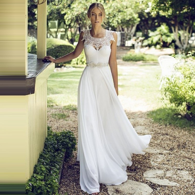 2016 New Design Simple Beach Wedding Dress Luxury French Style The ...