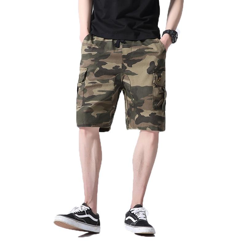 2018 Summer New arrival mens cargo shorts Cotton Jogger short pants designer camouflage trousers men drawstring beach shorts 5XL