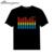 Venda Preto Ativado Por Som Unisex O-pescoço Luz Traje de Flash equalizador EL LED T-Shirt de manga curta para o Rock Do Partido Do Traje DJ