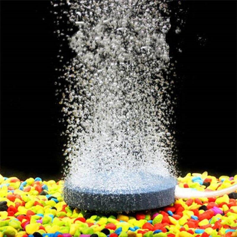 Great Useful 60mm Air Bubble Stone Aquarium Aerator Pond Pump Air Stone Bubble Disk Aquarium Air Pump Hydroponic Oxygen Plate