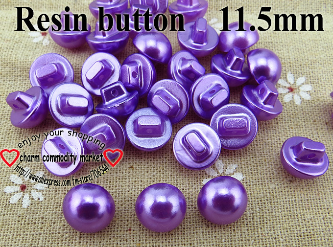 40PCS 11.5MM purple Dyed RESIN Mushroom buttons coat boots sewing clothes accessories R-226