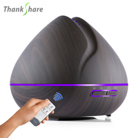 550ml Remote Control Essential Oil Diffuser Aromatherapy Air Humidifier 7 Color LED Lights Ultrasonic Aroma For