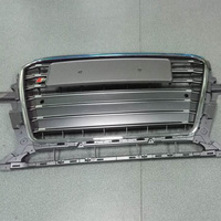 For Audi Q5 RSQ5 SQ5 Modified SQ5 Style Chrome Frame Grey Front Hood Center Grille Grill
