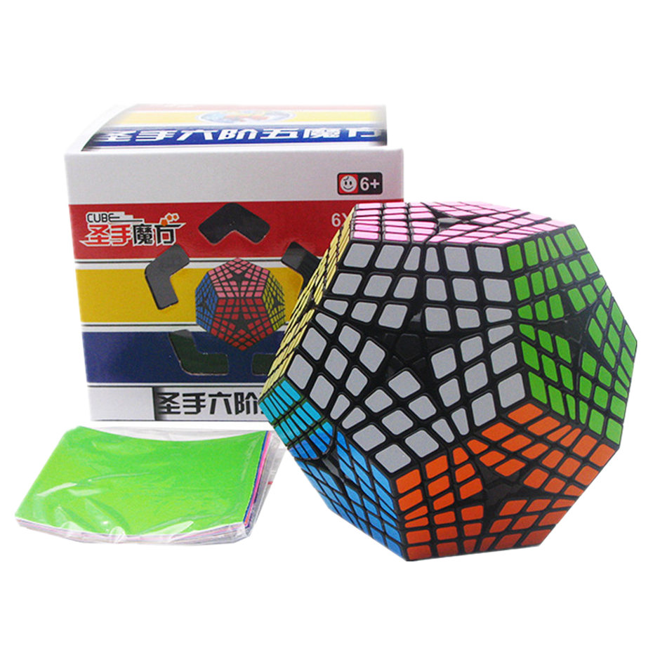 Shengshou Megaminx Cube 6x6 Megaminxeds Cube magique 6 couches professionnel Megaminx Cubes de vitesse Puzzle jouets pour enfants cadeau jouet