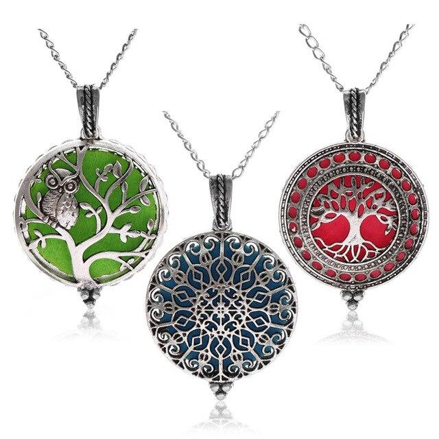5f8864da09d4 1 Pc Vintage difusor de Aroma collar abierto medallones antiguos colgante  Perfume Aceite Esencial aromaterapia collar