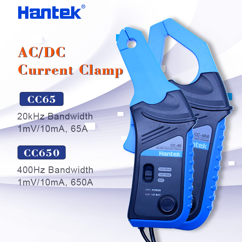 Hantek AC DC Current Clamp for oscilloscope CC-65 CC-650 20KHz 400Hz Bandwidth 1mV 10mA 65A 650A with BNC plug