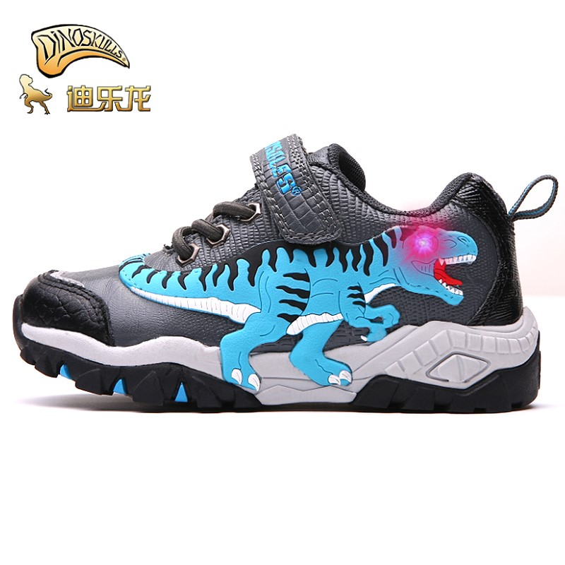 Dinoskulls boys shoes with light with double sides 2018 new Winter Dinosaur Children Sport Shoes for kids led softDinoskulls boys shoes with light with double sides 2018 new Winter Dinosaur Children Sport Shoes for kids led soft