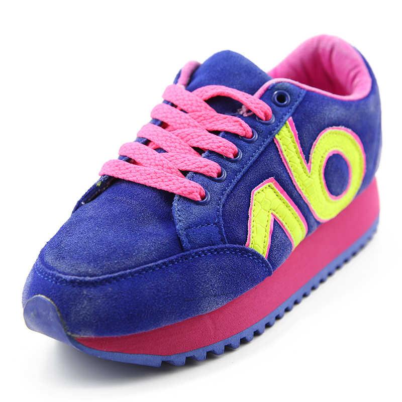 Plardin جديد جلد طبيعي حذاء كاجوال امرأة التوازن المشي أحذية جلدية بدون كعب أكسفورد أحذية للنساء راقصة الباليه أحذية رياضية