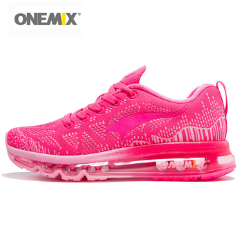 Onemix Running Shoes Women Sport Sneakers For Woman Athletic Trainers Exercise Runner Lady Pink Zapatillas Deportivas Pink Color