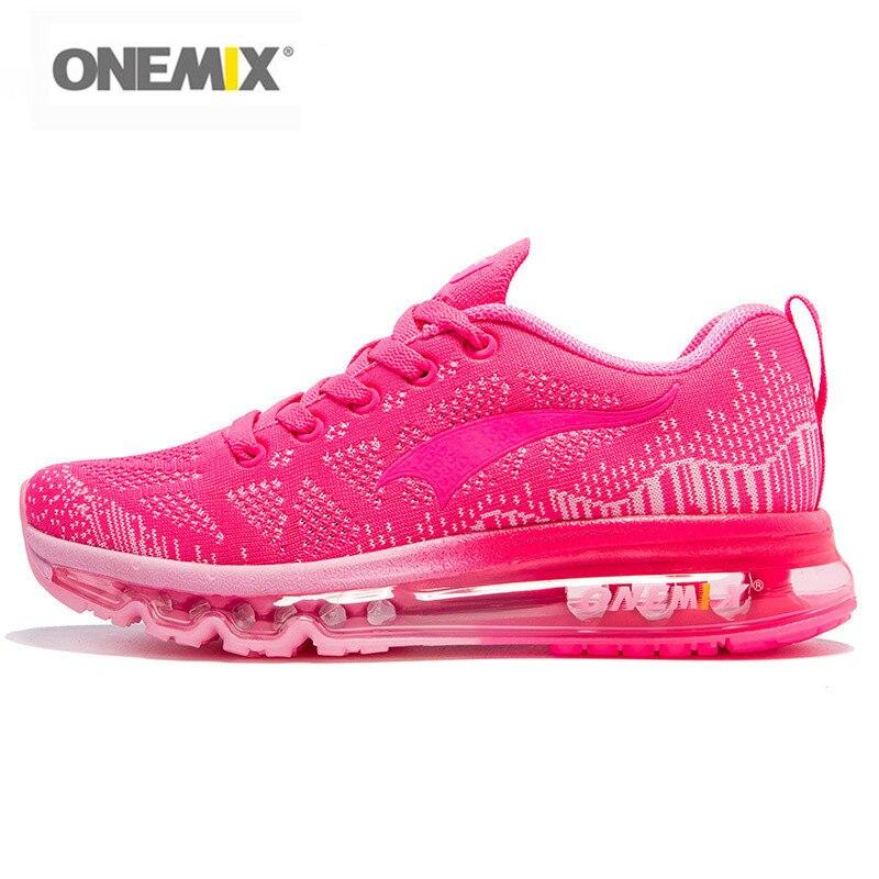 d6a11f832461a Onemix zapatos mujeres deporte Zapatillas de deporte para mujer  entrenadores deportivos ejercicio corredor señora Rosa Zapatillas Deportivas  Color rosa en ...