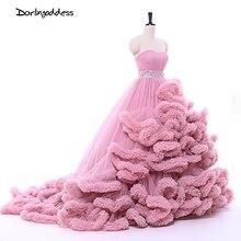 Luxury Princess Cloud Wedding Dresses 2017 Beach Puffy Long Train Women Ball Gown Plus Size Wedding Gowns vestido de noiva