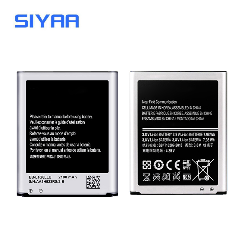 SIYAA Original EB-L1G6LLU Battery For Samsung S3 i9300 i9305 i9082 i9128 T999 High Capacity 2100mAh Replacement Li-ion Battery